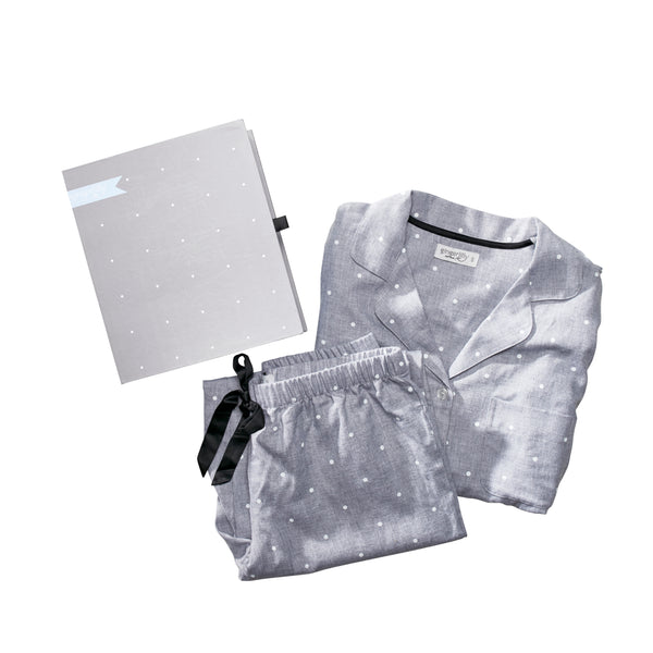 Liana Spot Grey Pyjamas Medium