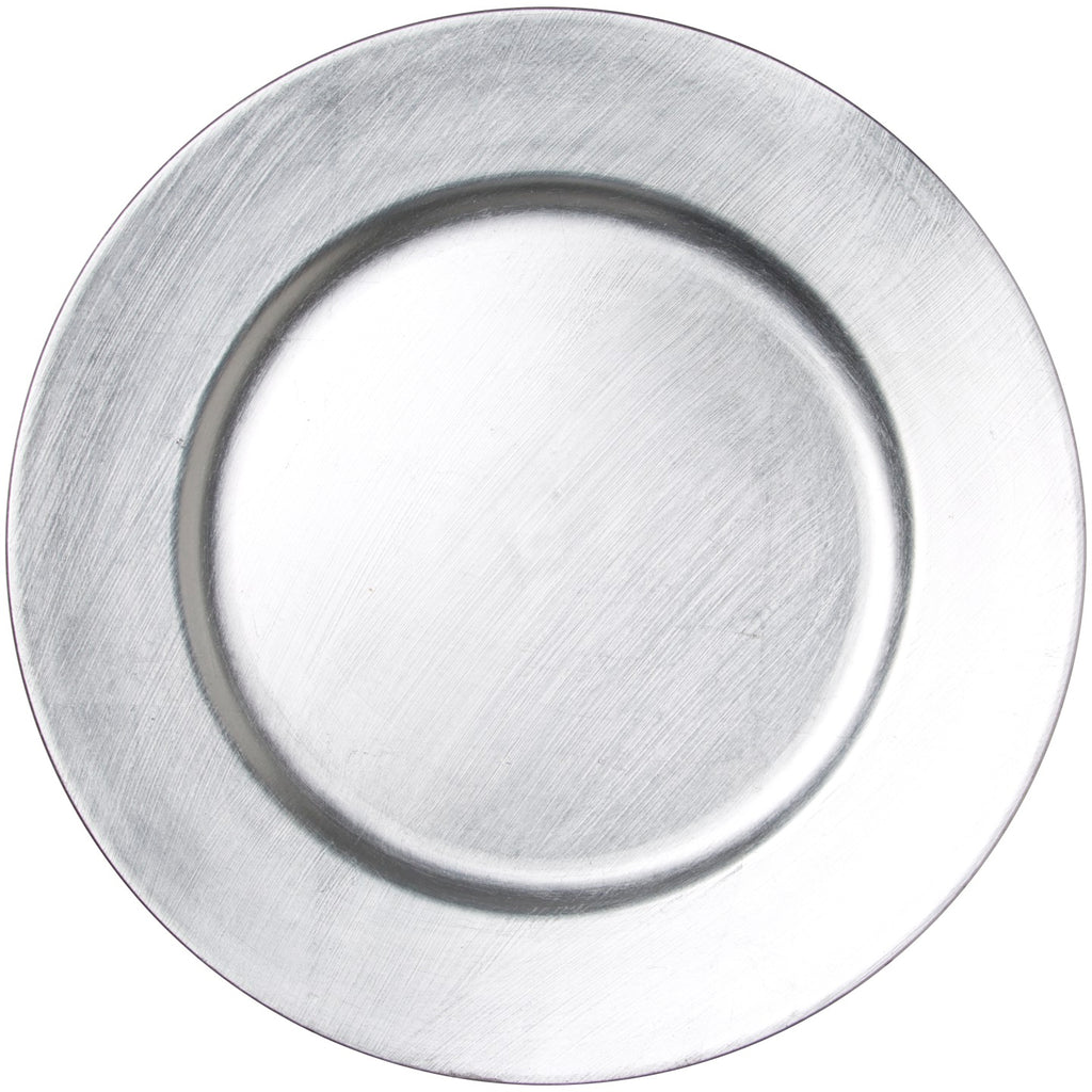 33cm Silver Lacquer Charger Plate