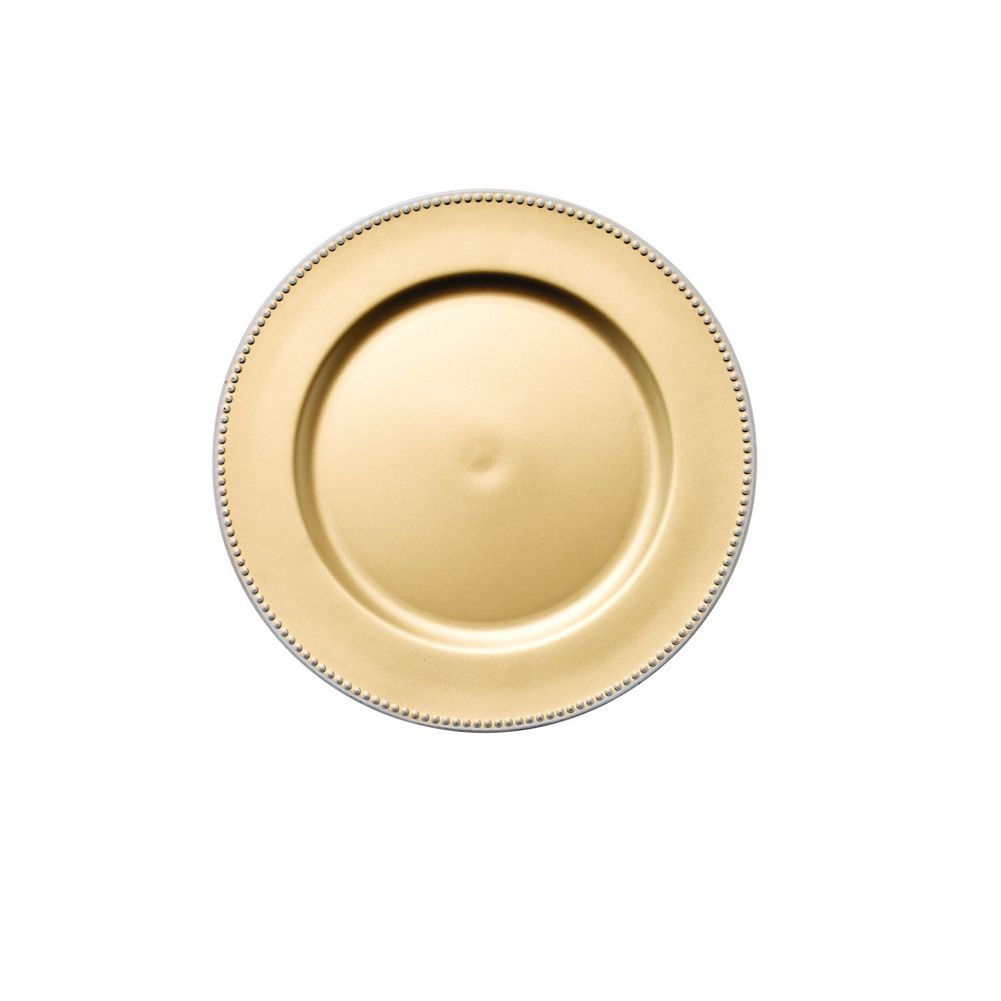 Gold 33cm Lacqeur White Rim Charger Plate