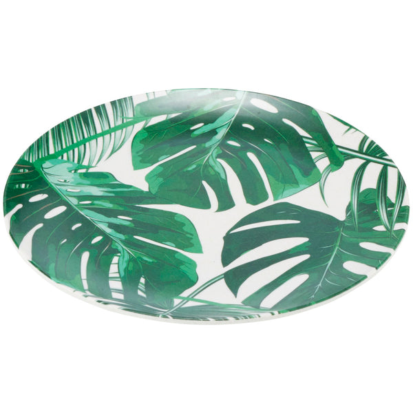 Bamboo 20cm Monstera Leaf Plate