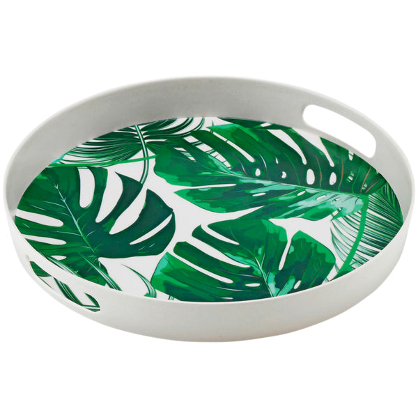 Bamboo 35cm Monstera Leaf Tray