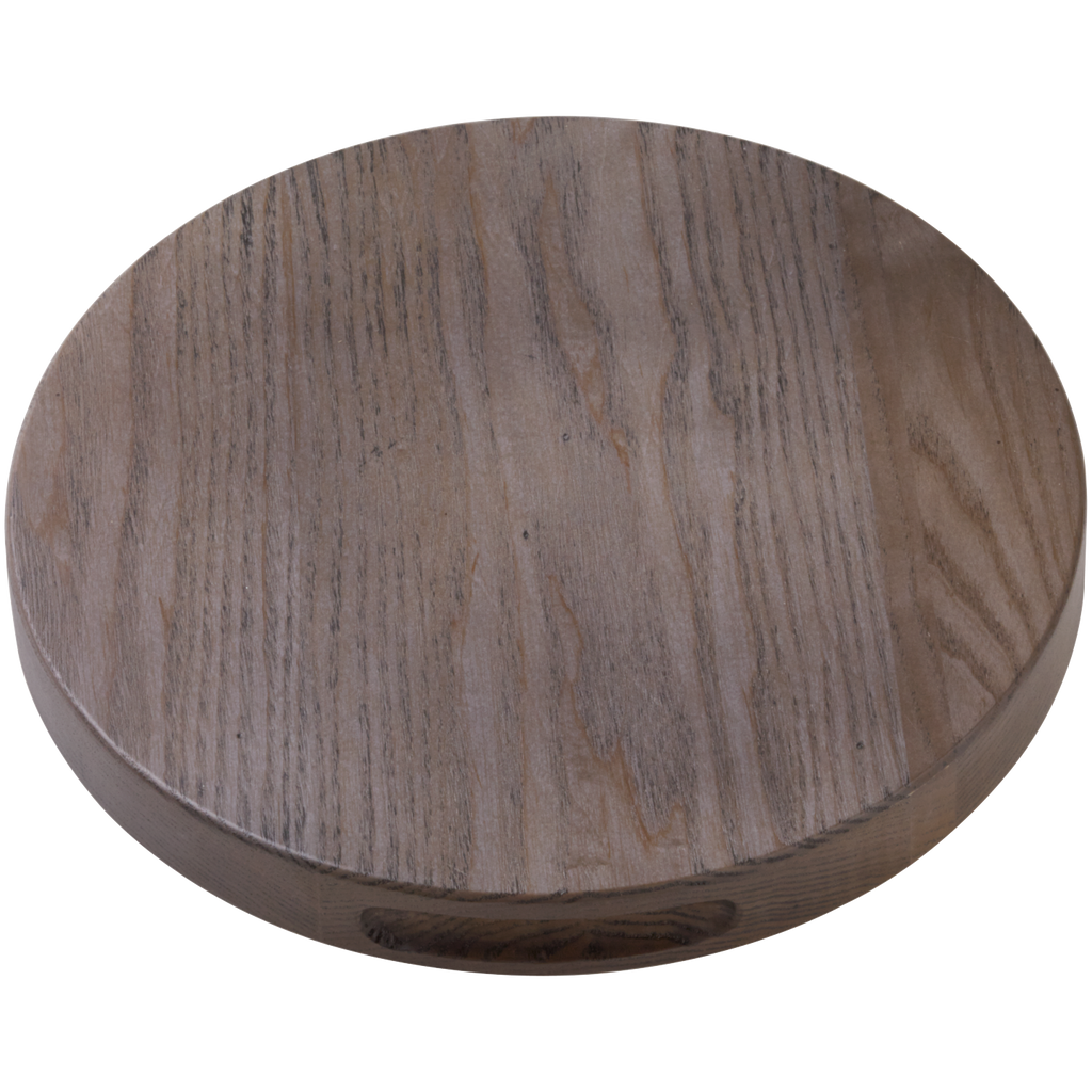 30cm Oak Stained Round Chopping Board