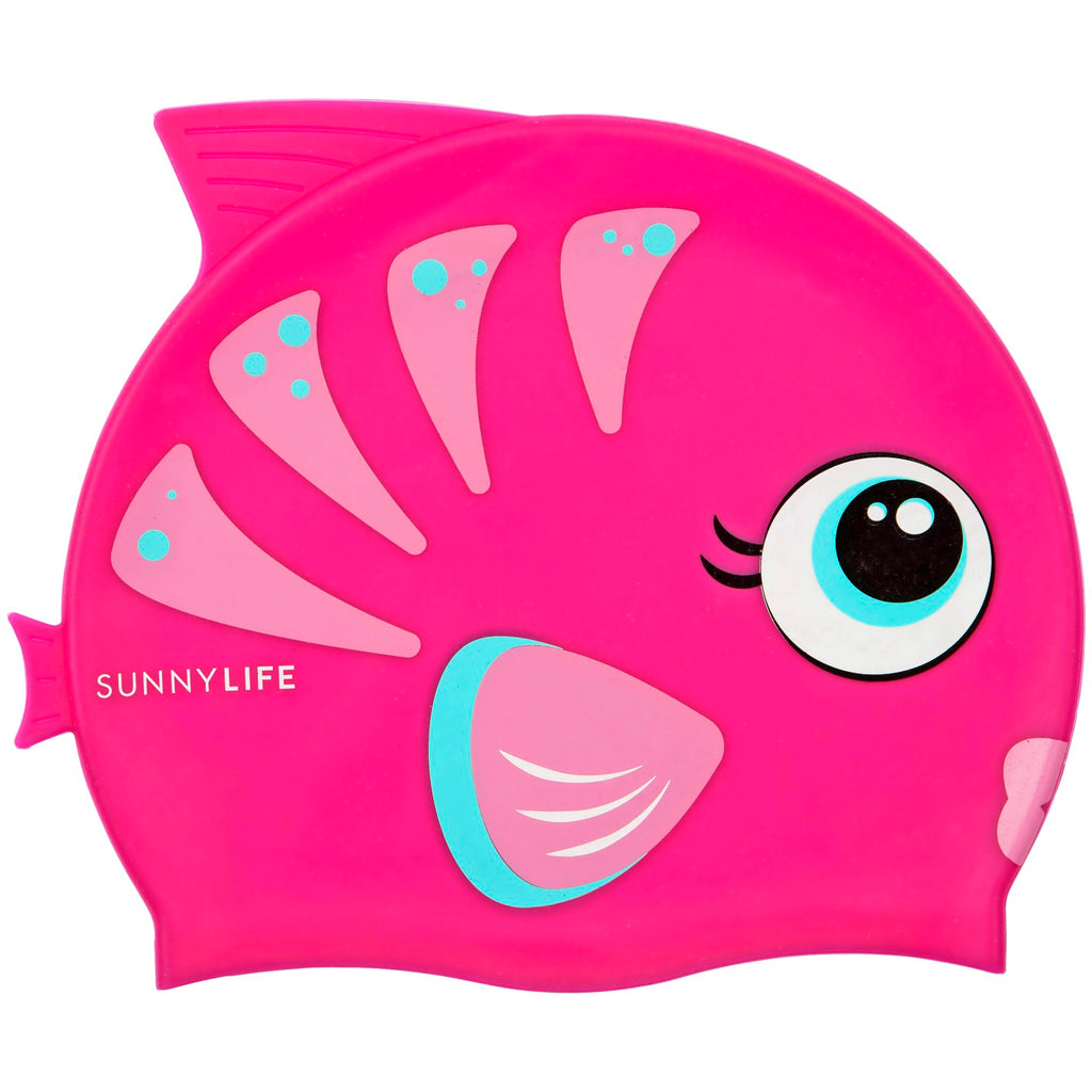Swimming Cap Fishy Pink