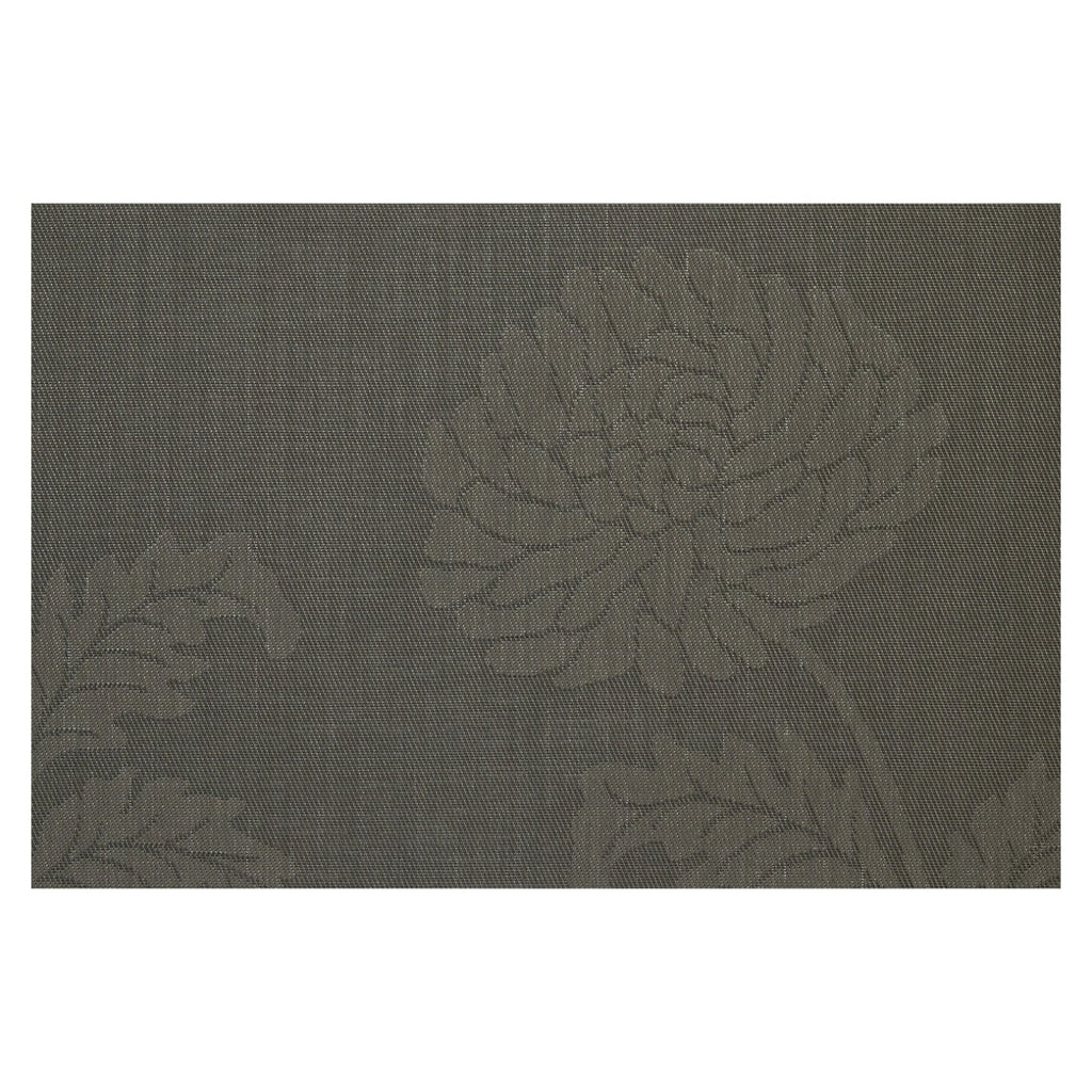 Chrysanthemum Black Placemat