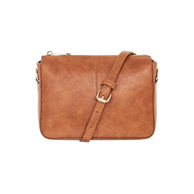 Positano Tan Pebble Crossbody Bag