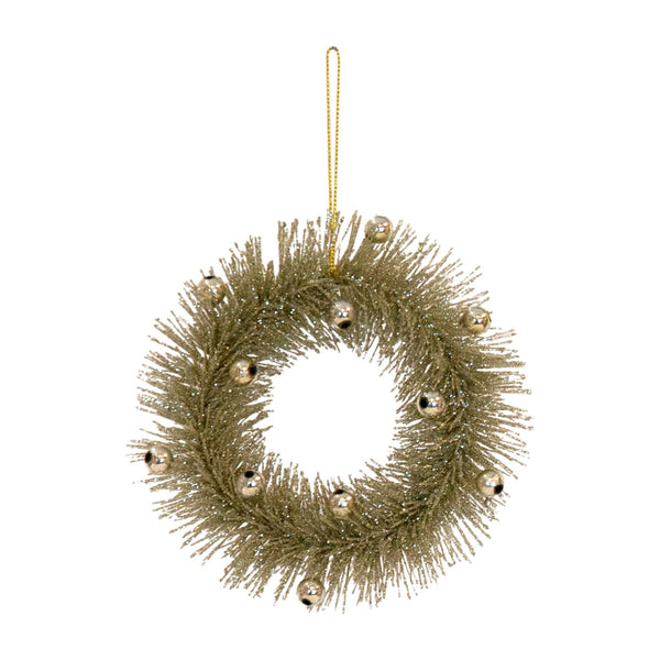 Sage and Gold Bell Wreath Decoration