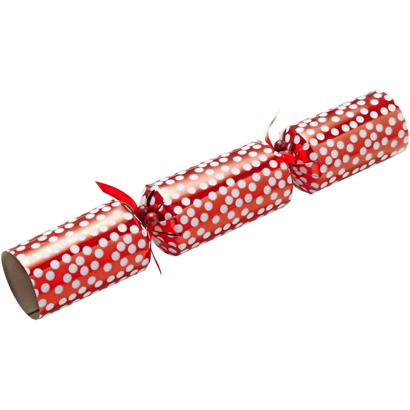 Set of 6 Luxury Red White Crackers
