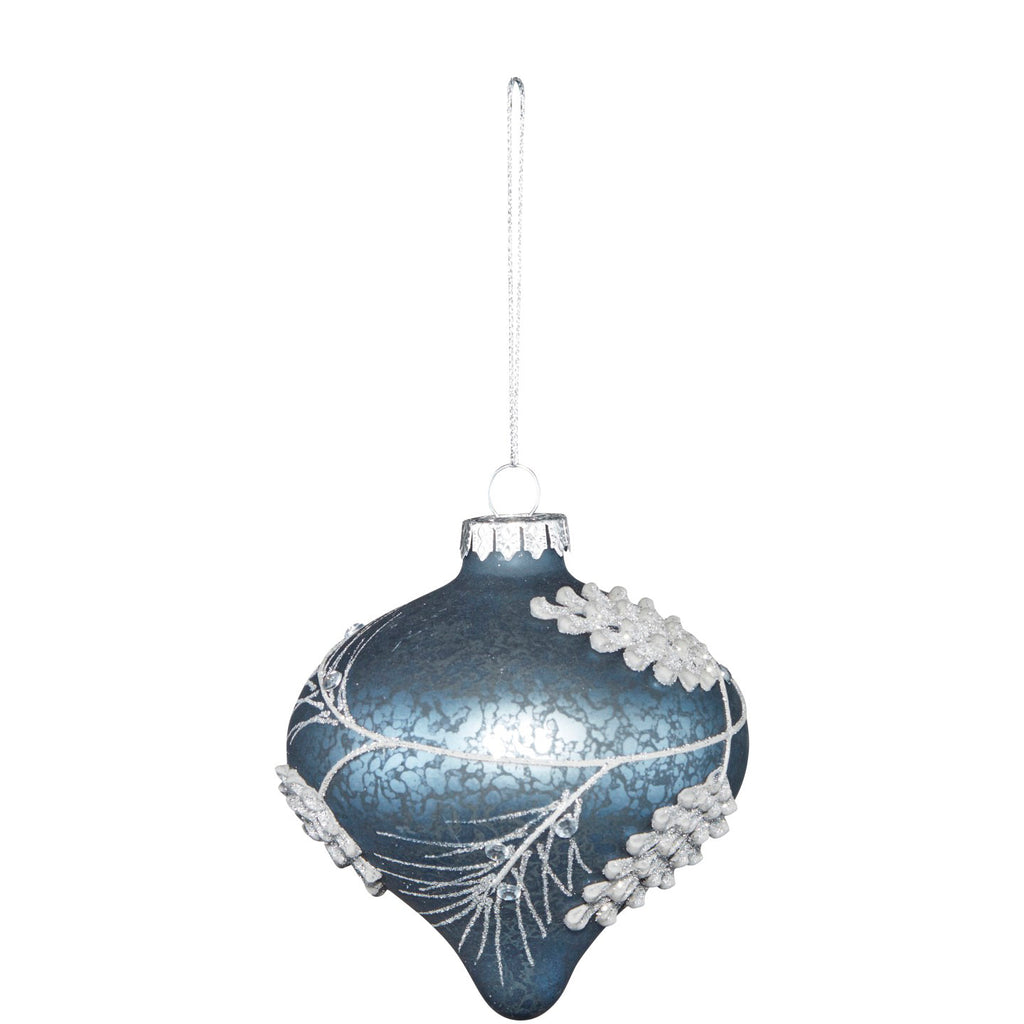Platinum Pinecone Decoration Assorted