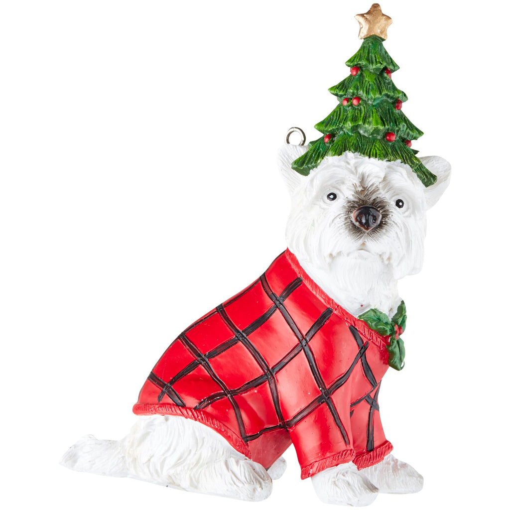 Dog Check Coat Decoration Assorted