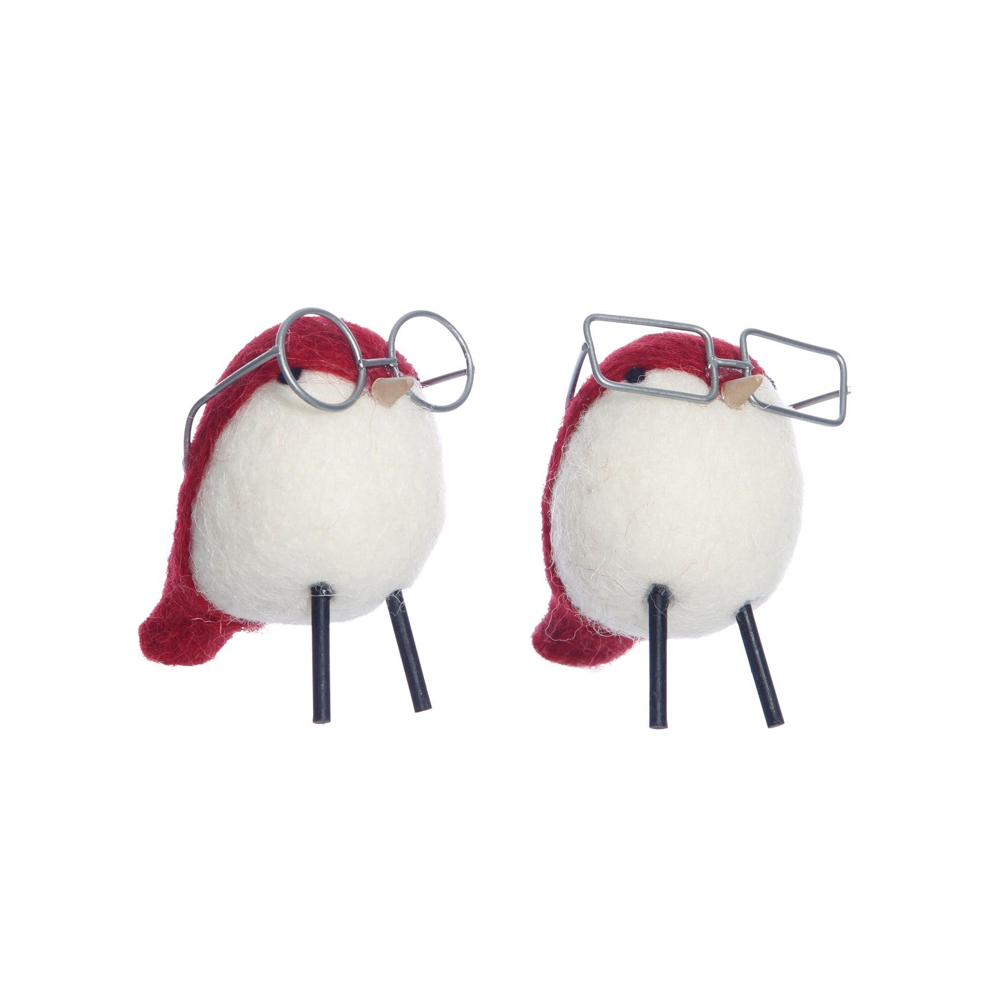 Felt Birds with Glasses Assorted