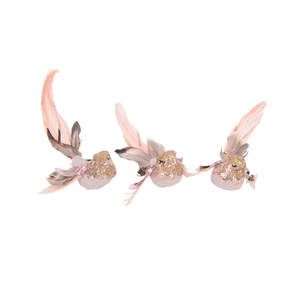 Feather Bird Pink/Fawn