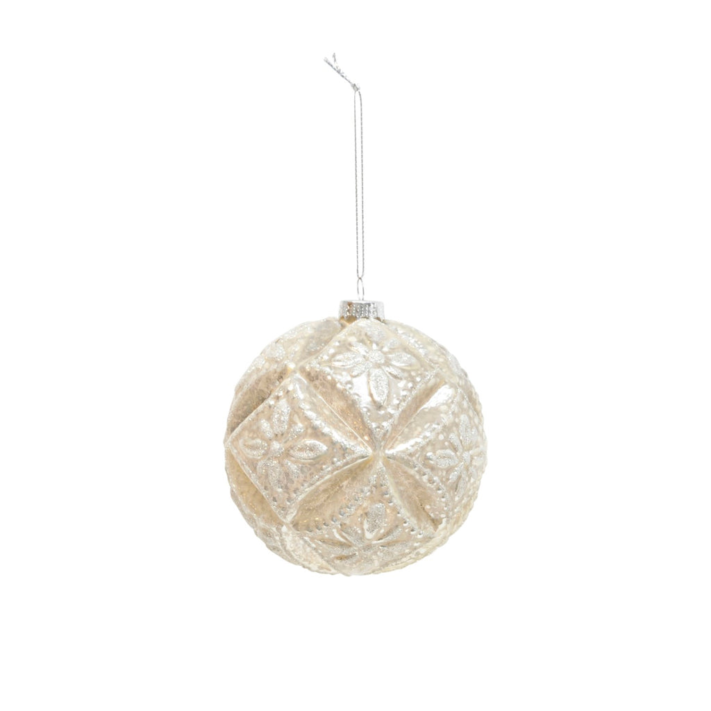 Champagne Flower Cut Bauble