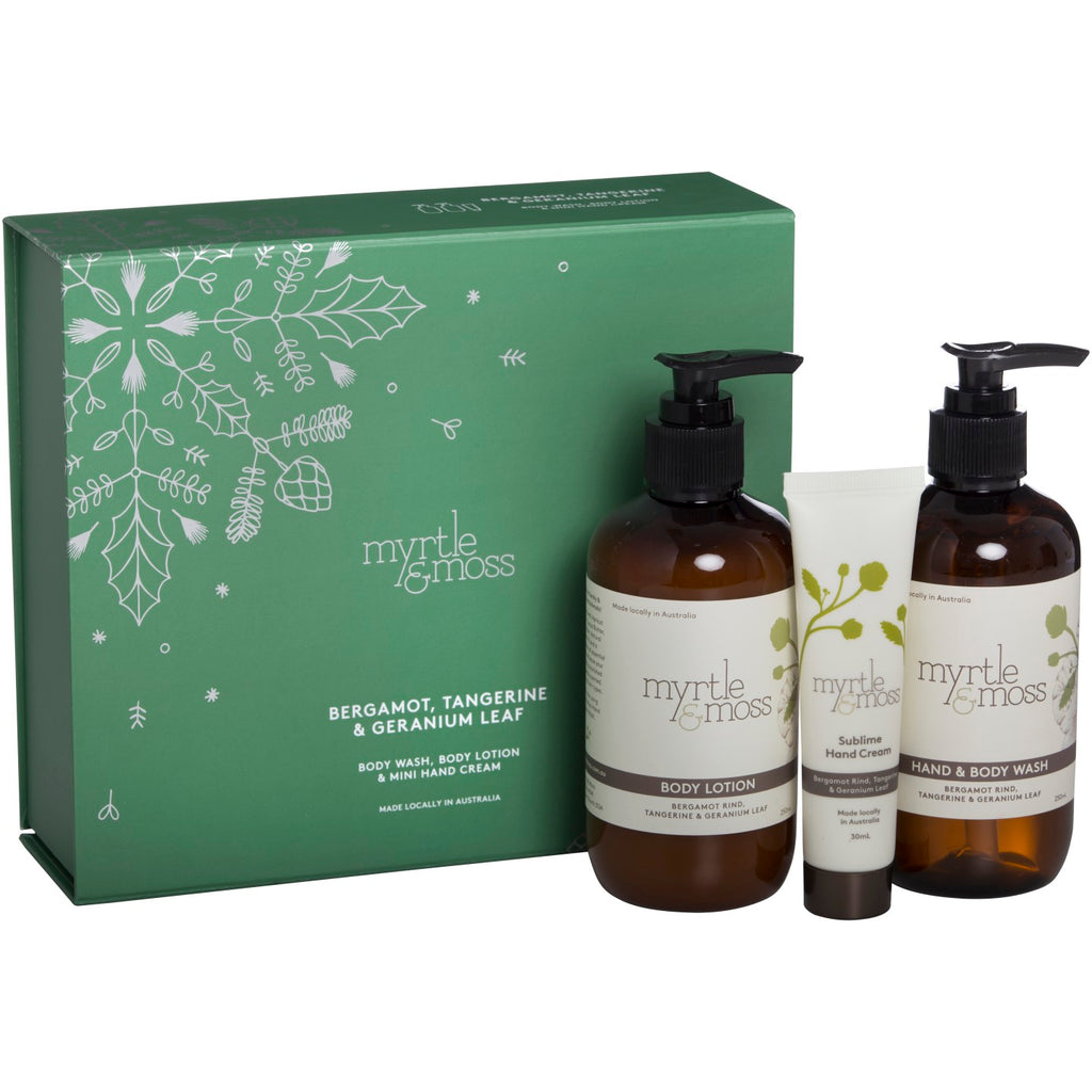 Bergamot Body Wash, Body Lotion & Hand Cream Pack