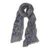 Blossoms Way Grey/Blue Scarf