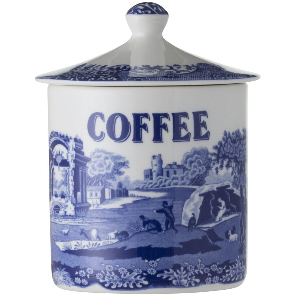 Blue Italian 15cm Coffee Canister - Minimax
