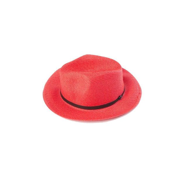 Borsalino Leather Strap Red Size 56 Hat - Minimax