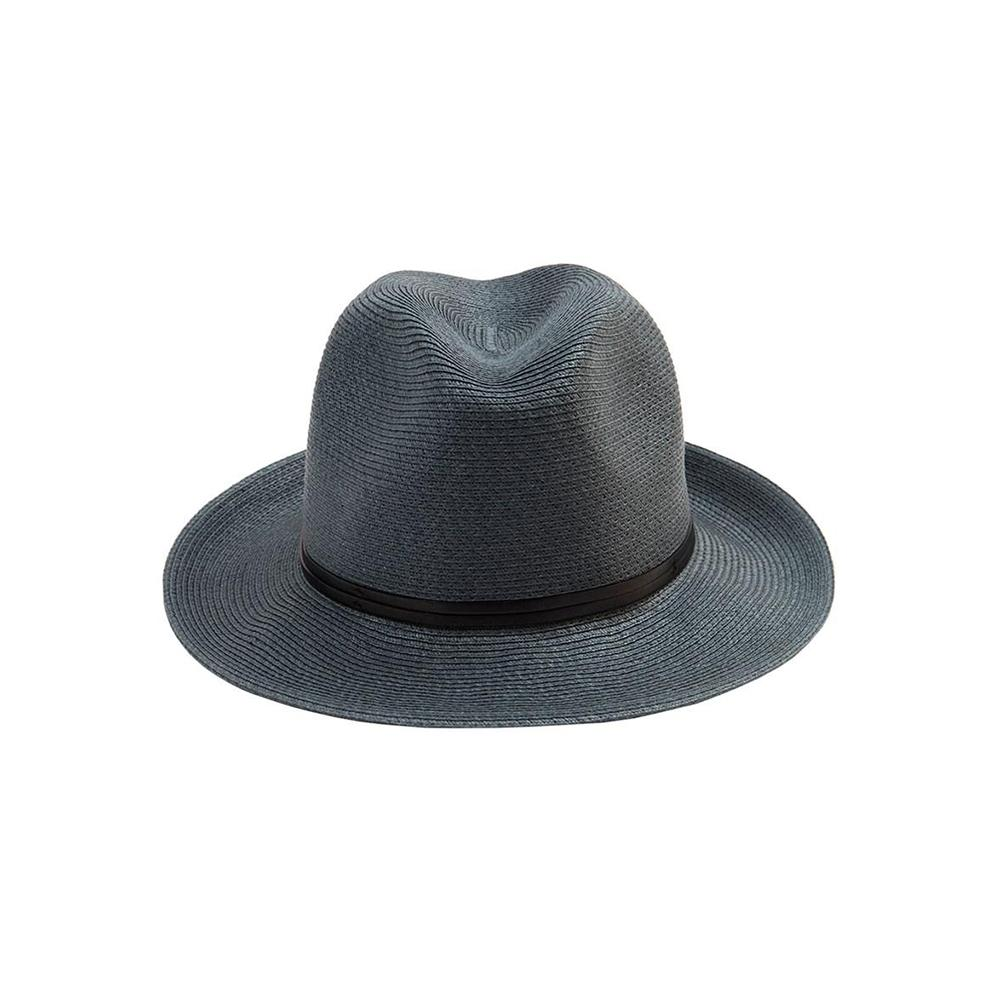 Borsalino Leather Strap Slate Size 58 Hat - Minimax