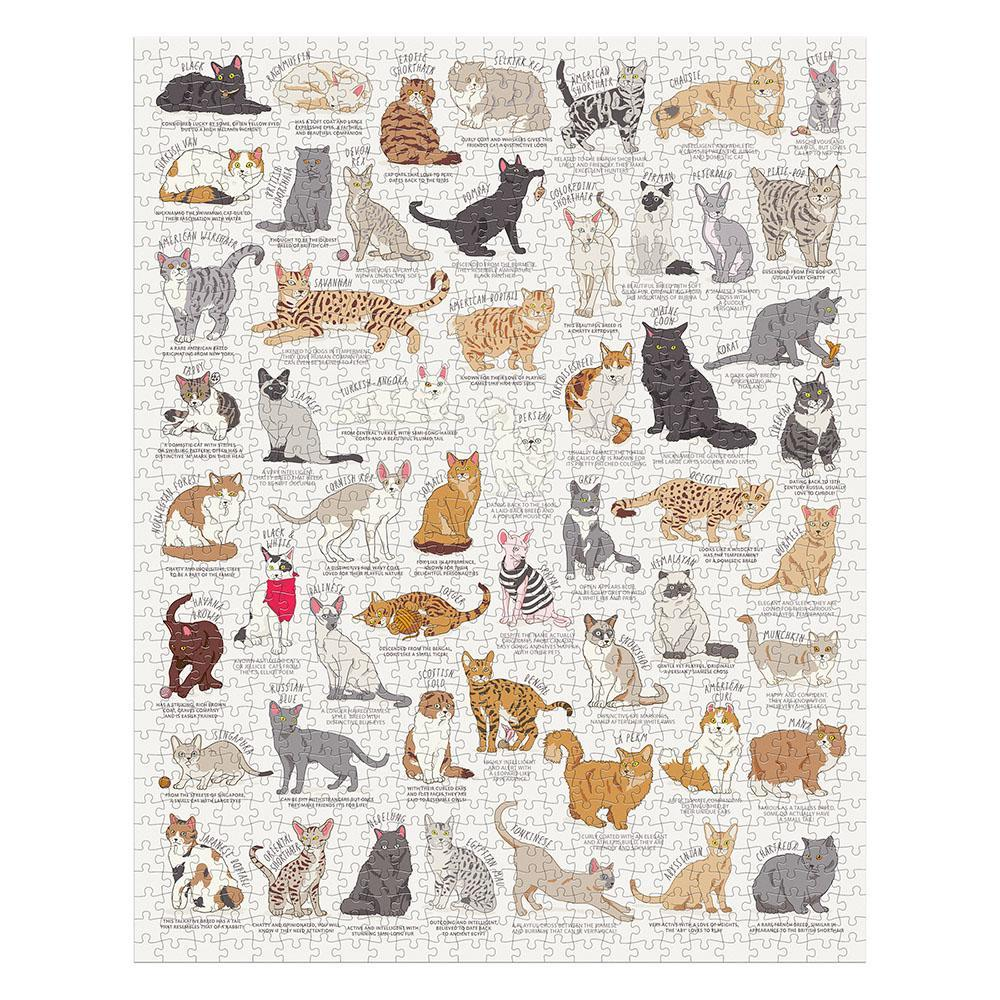Cat Lovers Ed 2 1000 Piece Jigsaw - Minimax