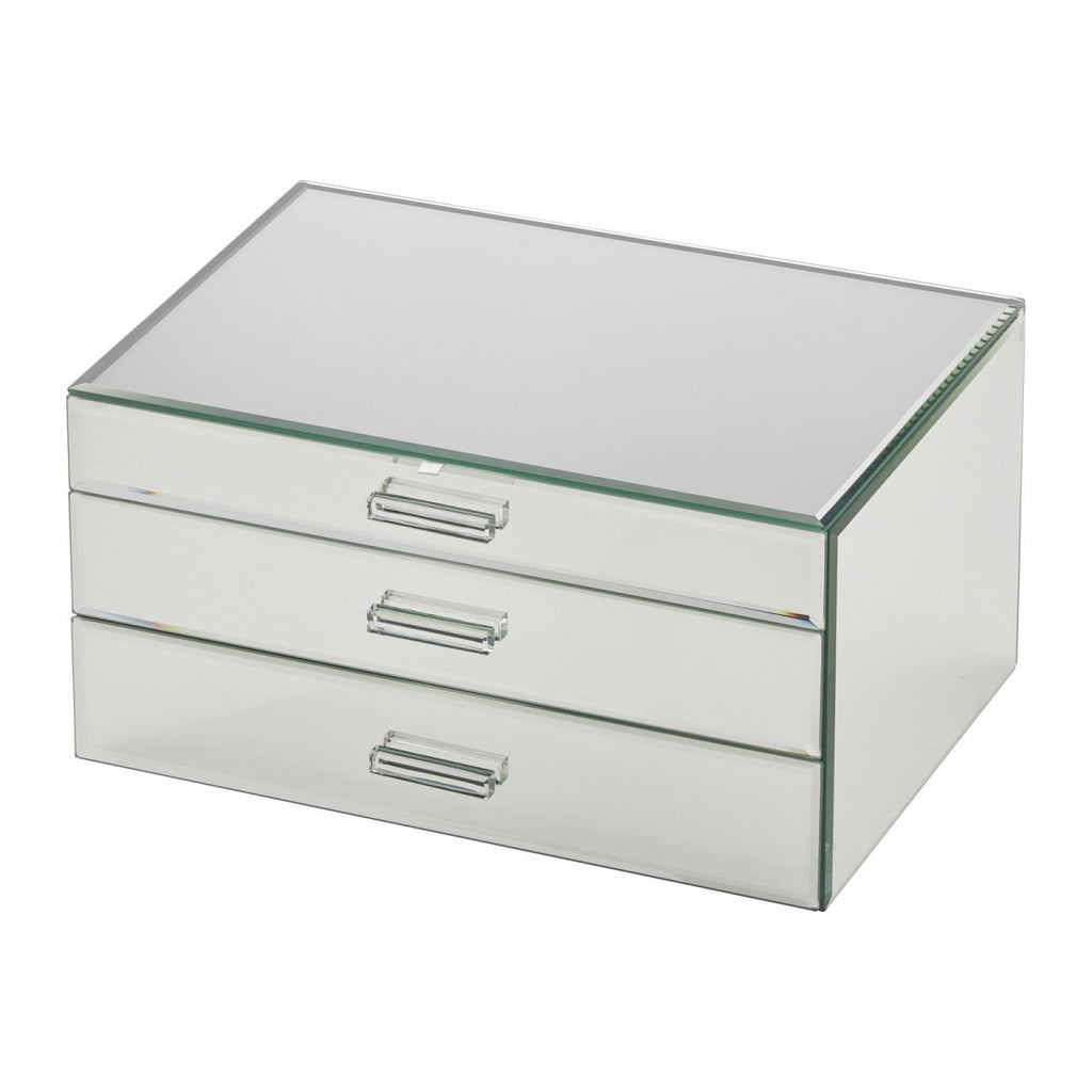 Gabriella Extra Large Mirror Jewellery Box with Drawers - Minimax