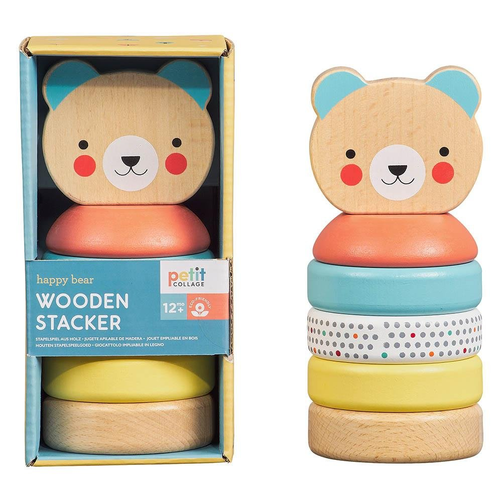 Happy Bear Wooden Stacker Toy - Minimax