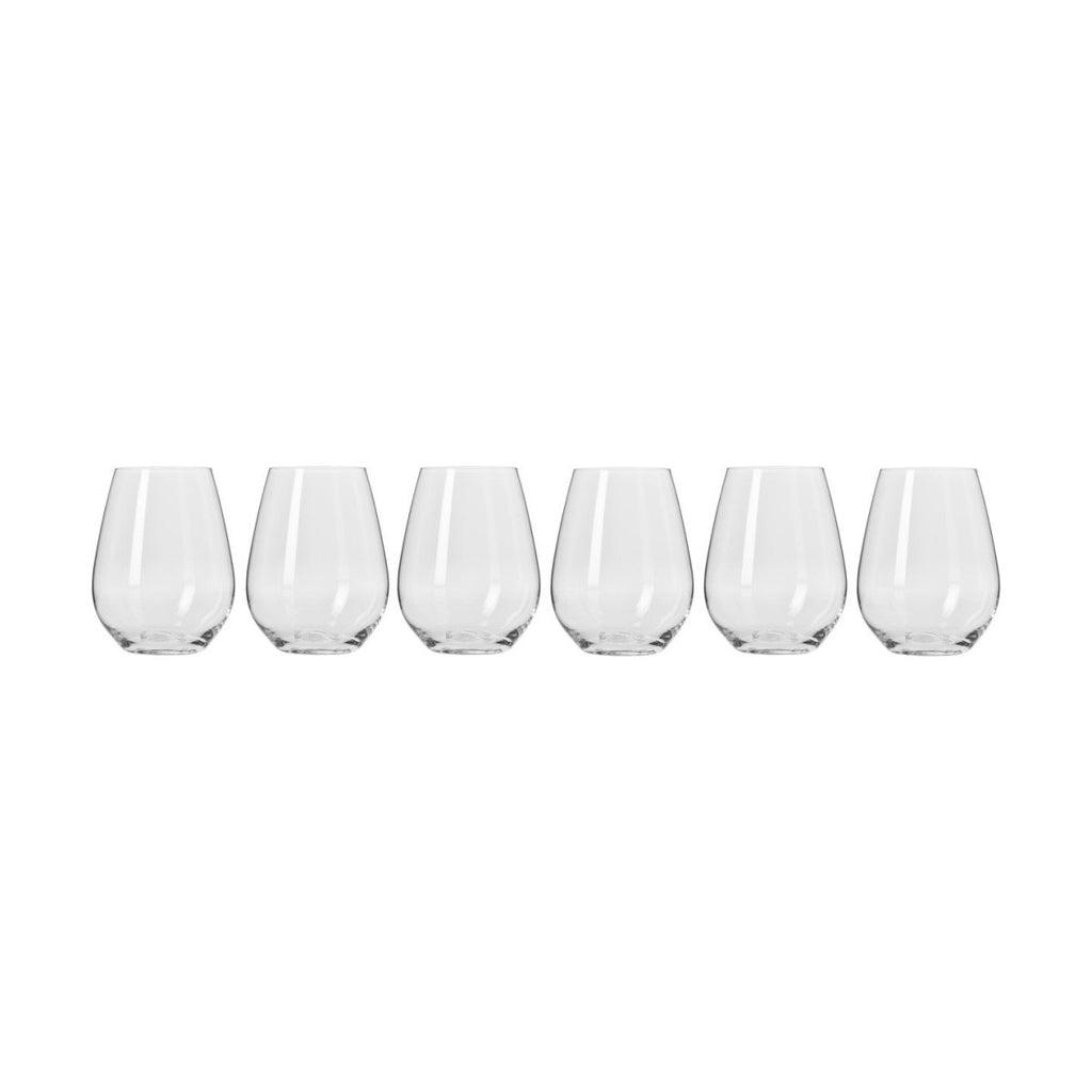 Harmony Set of Six 400ml Stemless Wine Glasses - Minimax