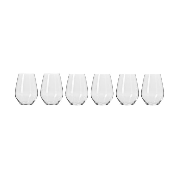 Harmony Set of Six 540ml Stemless Red Glasses - Minimax