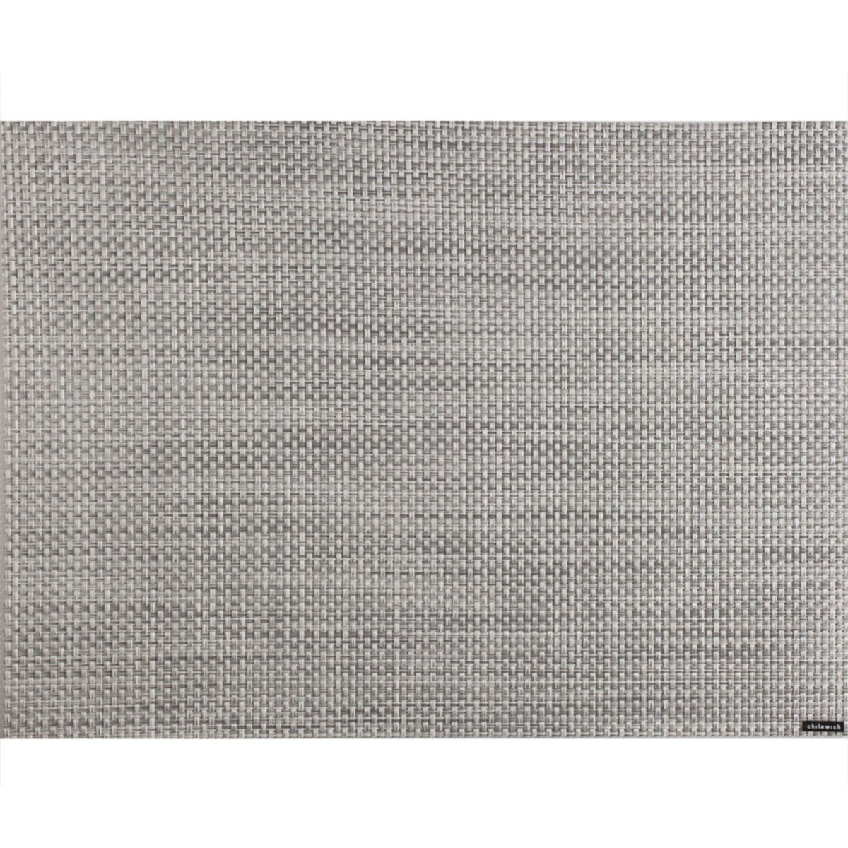 Placemat Basketweave - White/Silver - Minimax