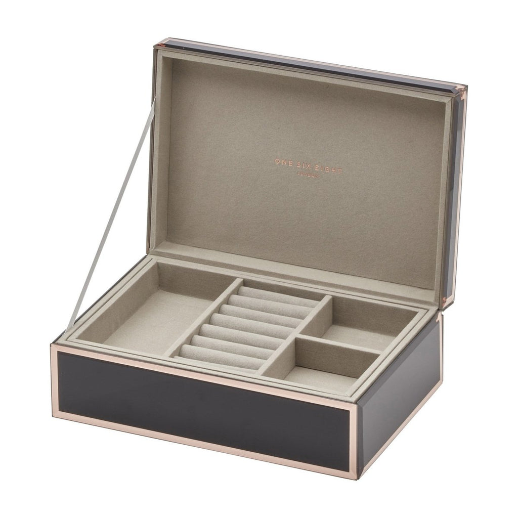 Sara Large Black Jewellery Box - Minimax