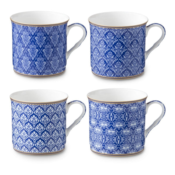 Set of 4 Moroccan Blue Mugs - Minimax