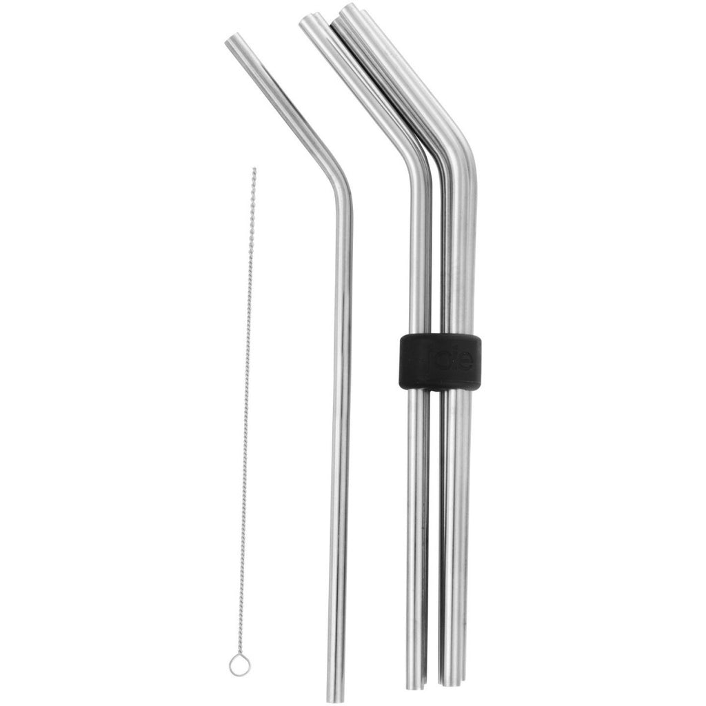 Set of Six Stainless Steel Straws - Minimax