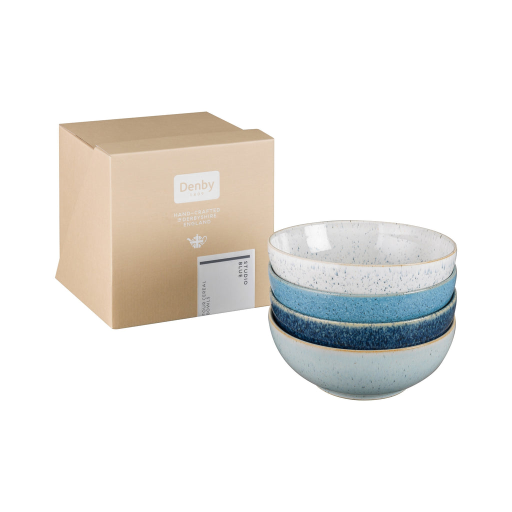 Studio Blue 17cm  Set of 4 Cereal Bowls