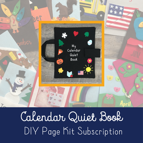 Calendar Quiet Book Page Kit Subscription