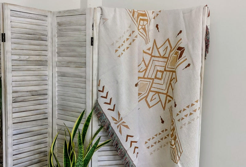 100% Organic Cotton Blankets Throws
