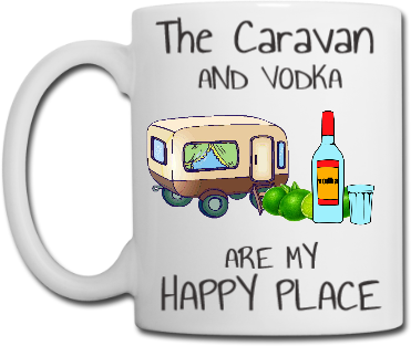 The Caravan and Vodka Mug Coaster Placemat