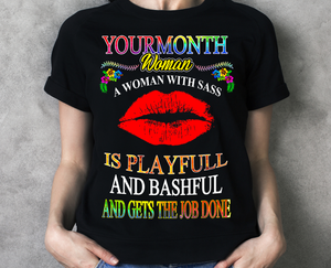 Woman with Sass Birthday T Shirt