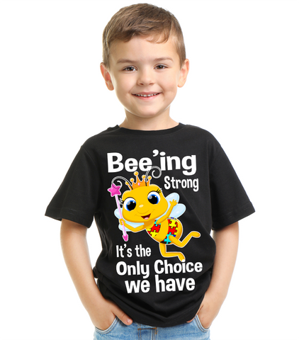 Cute Bee - Bee'ing Strong Autism T Shirt