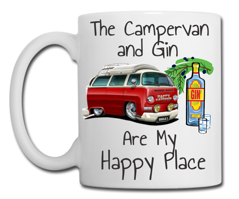 Campervan and Gin are My Happy Place Mug
