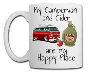 Campervan and Cider are My Happy Place Mug