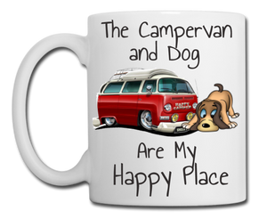 Campervan and Dog are My Happy Place Mug