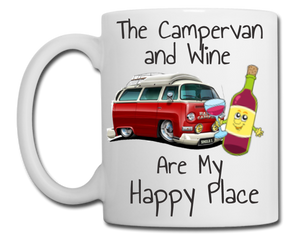 Campervan and Wine are My Happy Place Mug