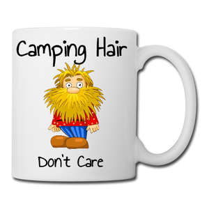 Camping Hair Dont Care Male Mug, Coaster, Place Mat