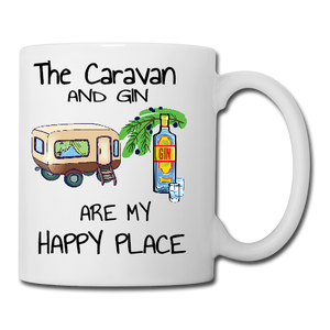 The Caravan and Gin Are my Happy Place Mug Coaster Placemat