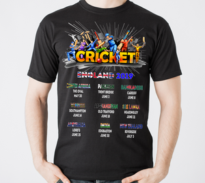 2019 England Fixtures Cricket T Shirt