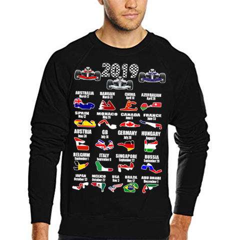 2019 Motor Racing Calendar Sweater