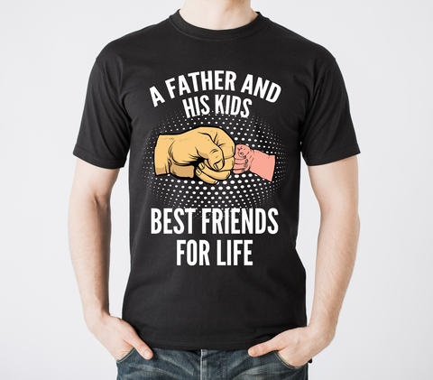 Father and Kids Best Friends T Shirt