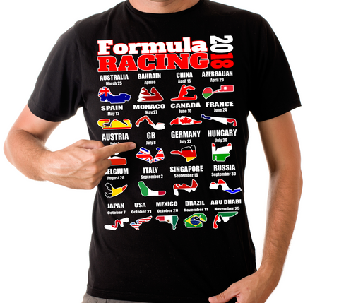 Day 2 Formula Sport Racing Calendar T Shirt