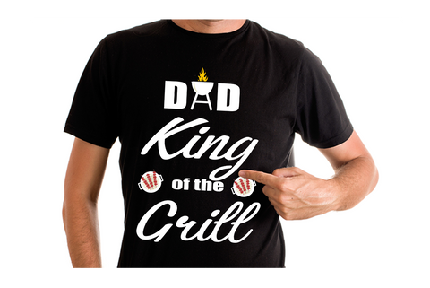 Dad King of the Grill T Shirt
