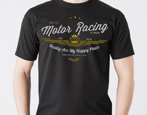 Motor Sport and Beer T Shirt