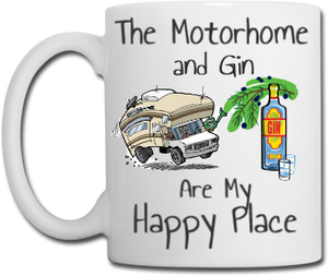 Motorhome and Gin Mug, Coaster, Place Mat