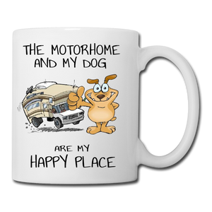 The Motorhome and My Dog Mug, Coaster, Place Mat